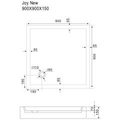 Поддон акриловый Sturm DW Joy new DW-JOY090915-NWT-NEW 900x900x150