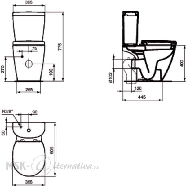 ideal standard connect arc e803601 e785601 20020. Black Bedroom Furniture Sets. Home Design Ideas
